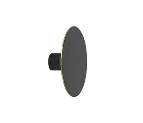 Ferm Living Wandhaken großes schwarzes Metall Ø7x2.5cm