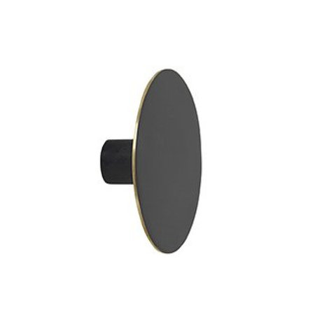 Ferm Living Wandhaak large black metal Ø7x2.5cm