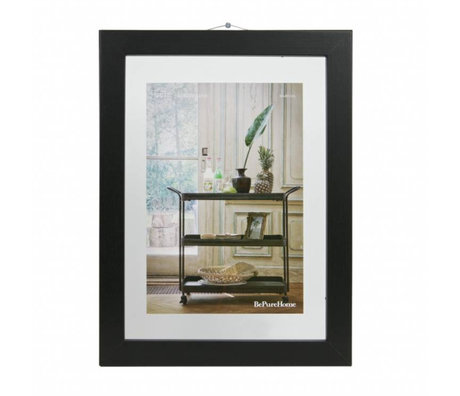 BePureHome Shift black wood frame M 40x30x1,8cm
