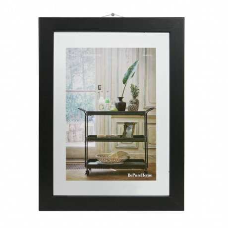 BePureHome Fotolijst Shift zwart hout M 40x30x1,8cm