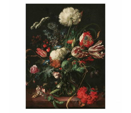 KEK Amsterdam Wooden panel Golden Age Flowers 1 S 45x60cm