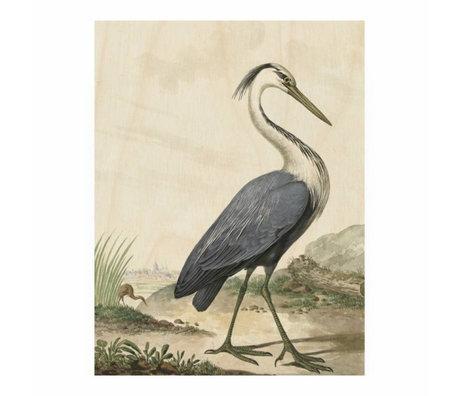 KEK Amsterdam Panneau en bois Heron / S Heron 45x60cm