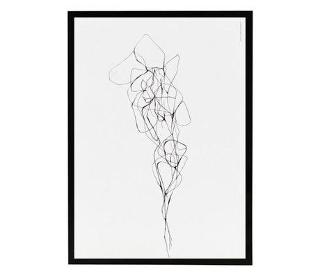 Housedoctor Poster met lijst Pen 2 papier MDF glas 21x29,5cm