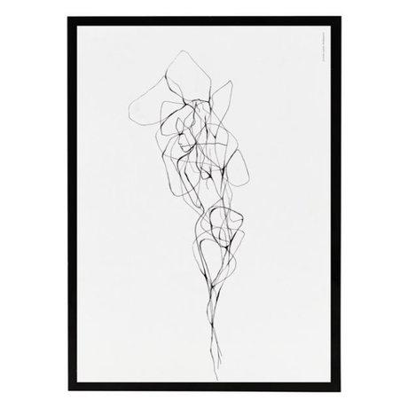 Housedoctor Poster mit Rahmen Stift 2 Papier MDF Glas 21x29,5 cm