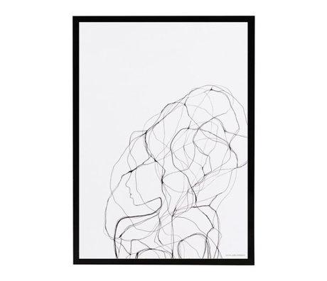 Housedoctor Affiche avec cadre Stylo 1 papier en verre MDF 21x29,5 cm