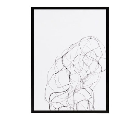Housedoctor Poster mit Rahmen Stift 1 Papier MDF Glas 21x29,5 cm
