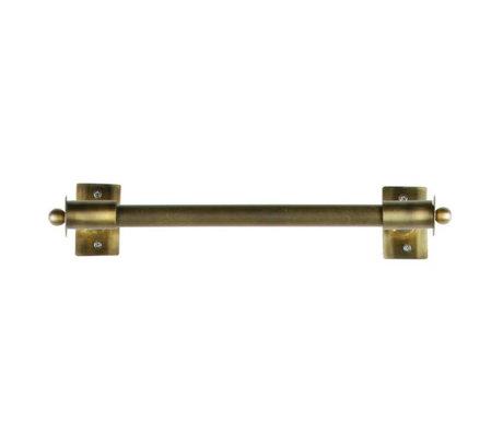 WOOOD Wall rack Pleun brass gold metal M 44x13x8cm