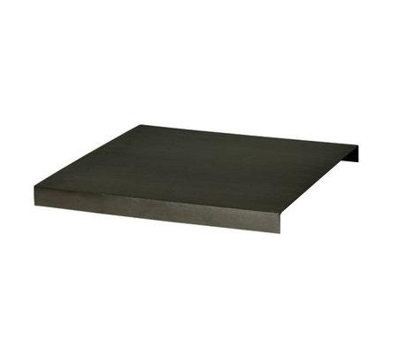 Ferm Living Tray for plant box black metal 26x26x2,5cm