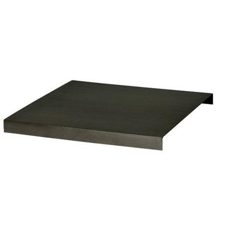 Ferm Living Plateau pour 26x26x2,5cm métallique noir de plantenbox