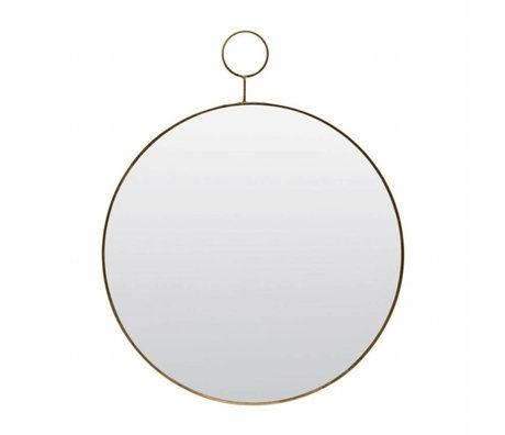Housedoctor Le métal de verre miroir à boucle Ø32cm