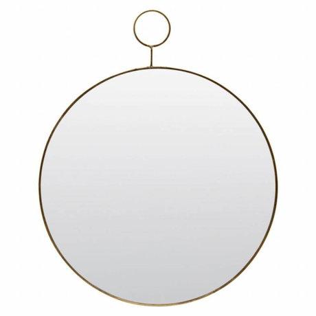 Housedoctor Le métal de verre miroir à boucle Ø38cm