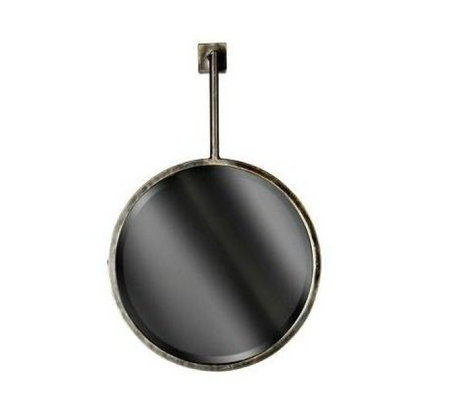 BePureHome Mirror chain mirror black metal 47x30x6cm