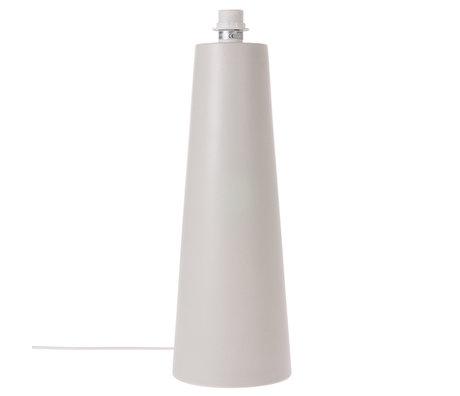 HK-living Lamp base Cone L matt light gray metal 18.5x18.5x55cm
