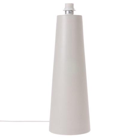 HK-living Pied de lampe Cone L métal gris clair mat 18,5x18,5x55cm