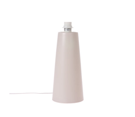 HK-living Lampenvoet Cone M mat licht grijsmetaal  22x22x57cm