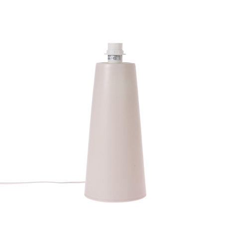 HK-living Lampensockel Cone M matt hellgrau Metall 22x22x57cm