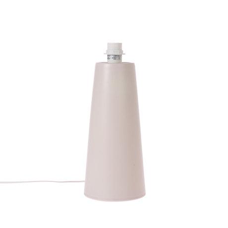 HK-living Pied de lampe Cone M métal gris clair mat 22x22x57cm
