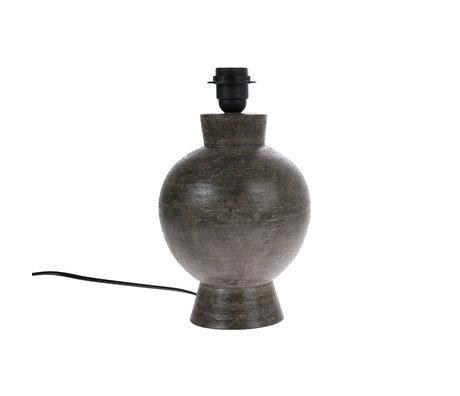 HK-living Lampe base M anthracite faïence noire 18x18x29cm