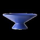 HK-living Obstschale aus matt kobaltblauer Keramik 24x24x10cm