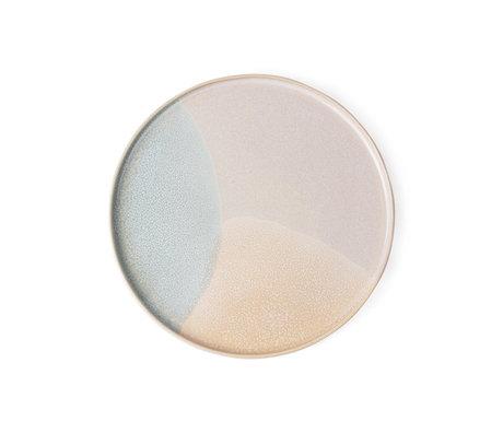 HK-living breakfast plate mint nude ceramics gallery 18,5x18,5x1cm