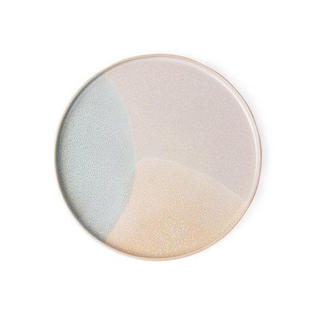 HK-living ontbijt bord mint nude keramiek gallery 18,5x18,5x1cm