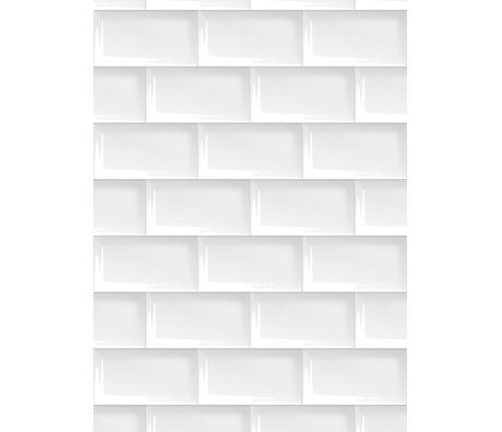 KEK Amsterdam Papier peint papier blanc 146,1 x 280 cm, papier peint 089