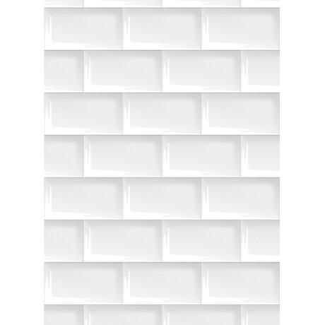 KEK Amsterdam Tapetenpapier weiß 146,1 x 280 cm, Tapete 089