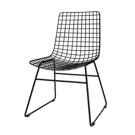 HKliving Dining Chair dining black metal wire 47x54x86cm