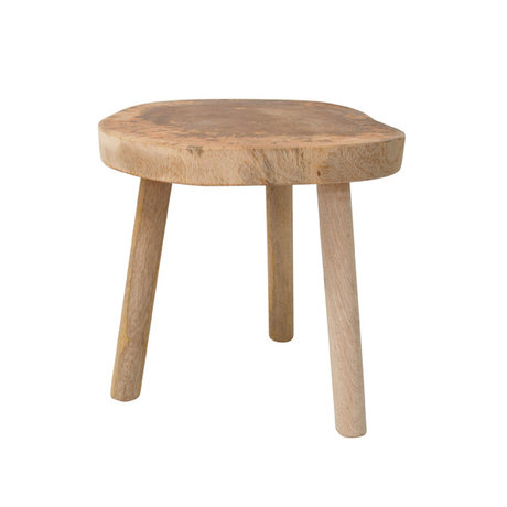HK-living Occasional table brown wood approximately 33x33x31cm