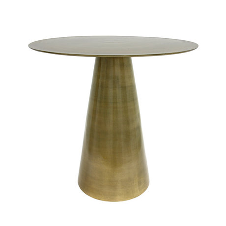 HK-living Side table yellow copper brass 49x49x45cm