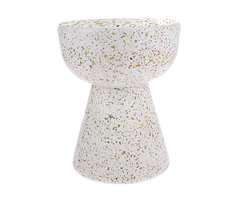 HK-living Side table terrazzo multicolour concrete 36x36x44cm