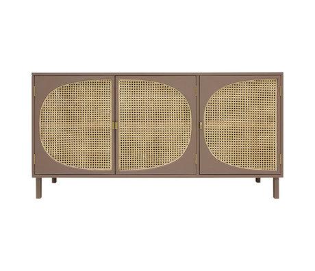 HK-living Anrichte Gurt braun Holz 160x40x81cm