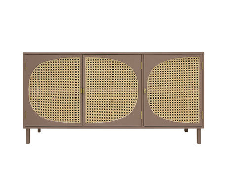 HK-living Sideboard Webbing brown wood 160x40x81cm