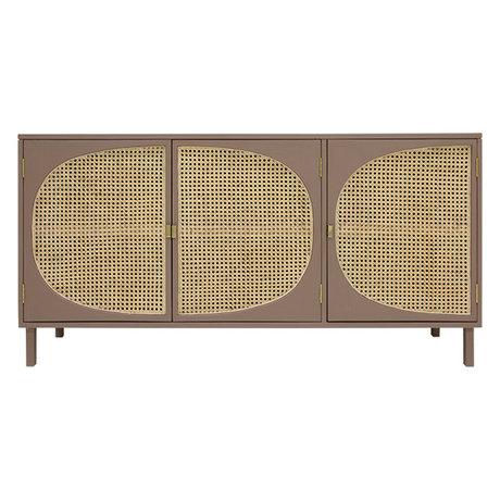 HK-living Sideboard Webbing braunes Holz 160x40x81cm