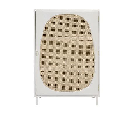 HK-living Schrank Gurt weiß Holz 85x35x122cm