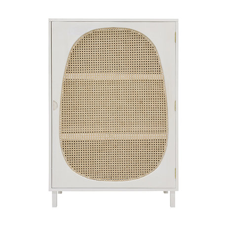 HK-living Cabinet cabinet Webbing white wood 85x35x122cm
