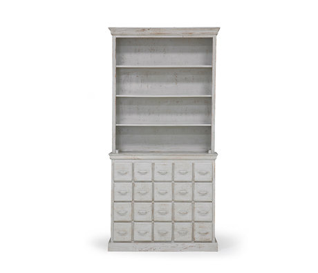 HK-living Drawer cabinet vintage gray wood 113x40x230cm
