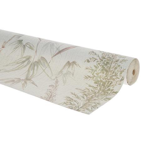 HK-living Wallpaper vintage reed multicolour fleece wallpaper 0.53x10.05m