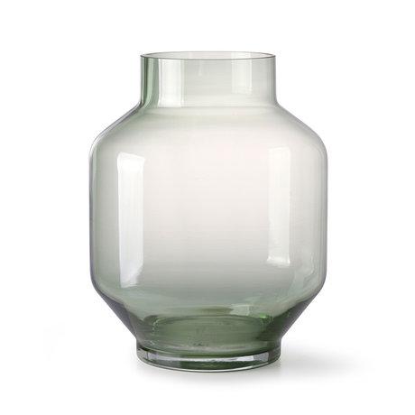 HK-living Vaas groen glas L Ø19,5x25cm