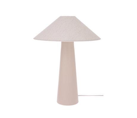 HK-living Lampenschirm Dreieck Elfenbein Jute M Ø34x11cm