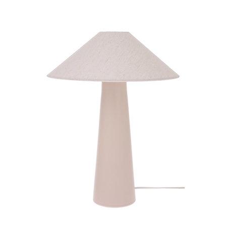 HK-living Lamp shade Triangle ivory jute M Ø34x11cm