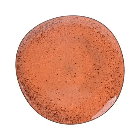 HKliving Essteller Teller Pfirsich Keramik Fett & Basic 29x28,5x2,5cm