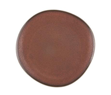 HK-living Teller terra Keramik Fett & Basic 29x28,5x2,5cm