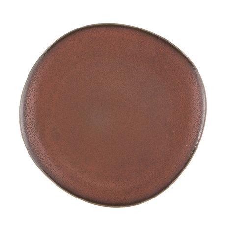 HK-living diner bord terra keramiek bold & basic 29x28,5x2,5cm