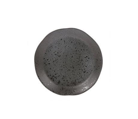 HK-living Frühstücksteller grau Keramik Fett & Basic 21x21x3cm