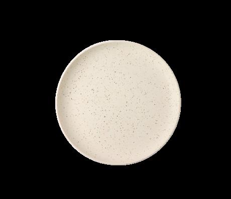 HK-living Frühstücksteller Fett & Basic weiße Keramik Ø21,6x2,3cm