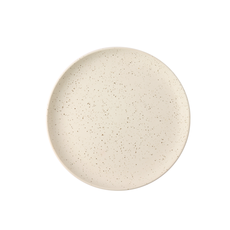 HK-living Breakfast plate Bold & Basic white ceramic Ø21,6x2,3cm