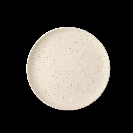 HK-living Ontbijtbord Bold & Basic wit keramiek Ø21,6x2,3cm