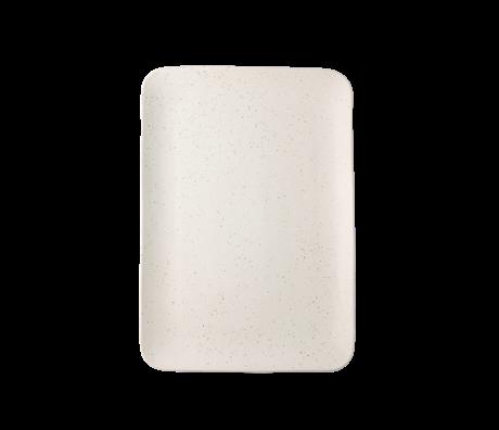 HK-living Tray Bold & Basic cream ceramics 35x24x3cm