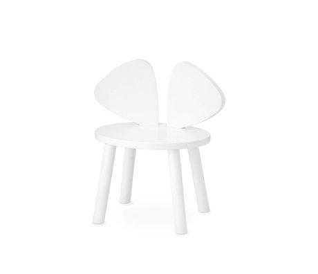 NOFRED chaise bébé enfant bois blanc 42,5x28x46,4 cm